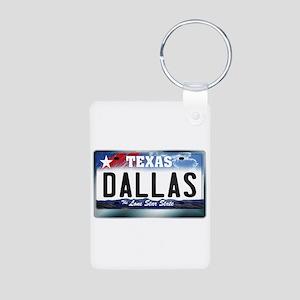 Texas License Plate [DALLAS] Aluminum Photo Keycha